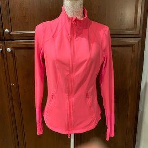 Zella hot pink mesh track jacket EUC L